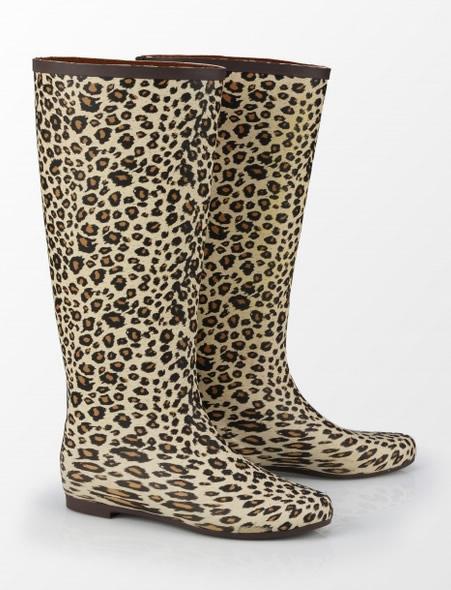 Cizme Cauciuc De Firma In Print Leopard