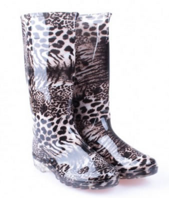 Cizme Cauciuc Ieftine Animal Print Leopard