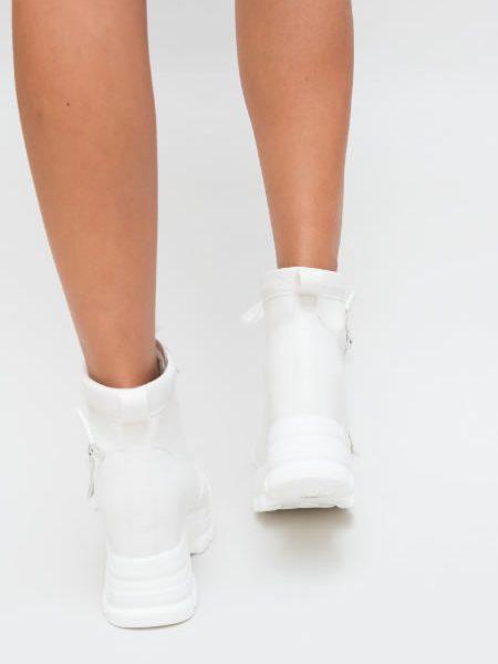 Adidasi De Dama Albi Cu Platforma Ascunsa 2018