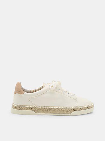 Espadrile Dama Albe Piele Naturala Pantofi Albi Cu Snur Reducere