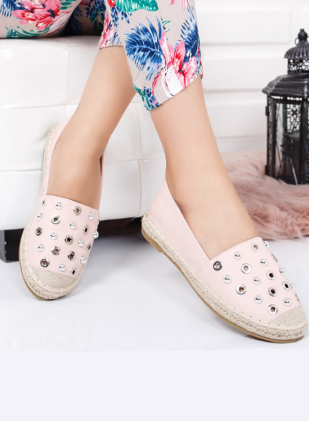 Espadrile Roz Perforate