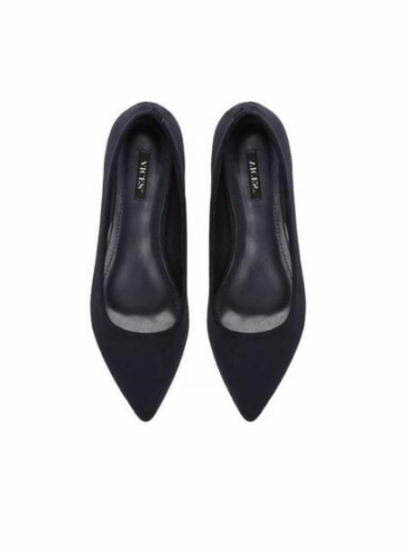 Pantofi Ascutiti Cu Toc Mic Negri