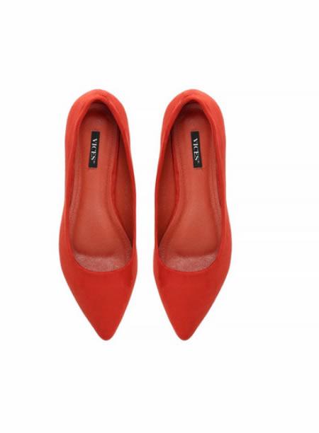 Pantofi Ascutiti Cu Toc Mic Rosii