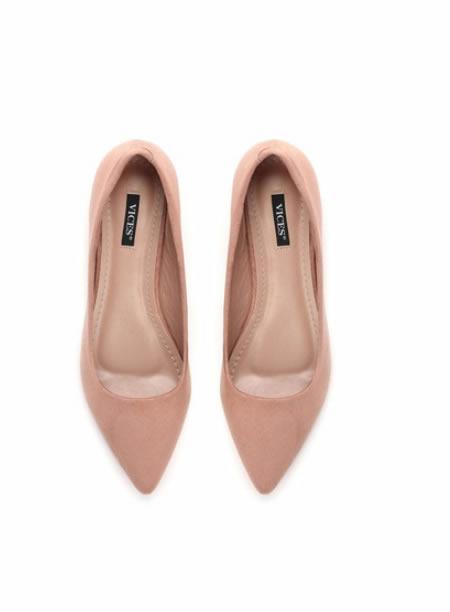 Pantofi Ascutiti Cu Toc Mic Roz