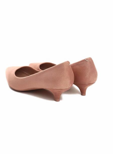 Pantofi Ascutiti Roz Cu Toc Mic