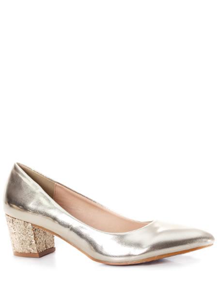 Pantofi Aurii De Seara Cu Toc Mic