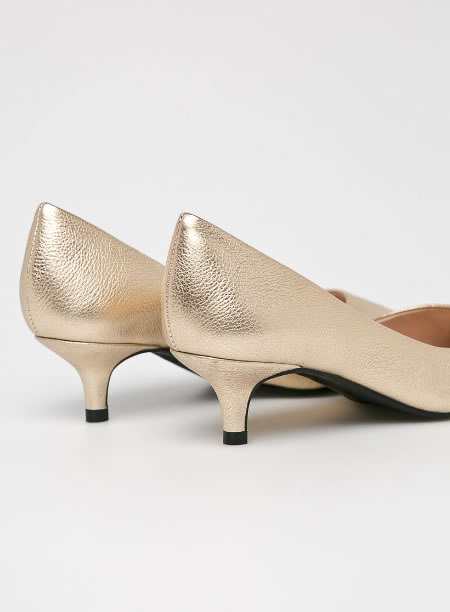 Pantofi Aurii Piele Ieftini