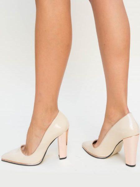 Pantofi Bej De Seara