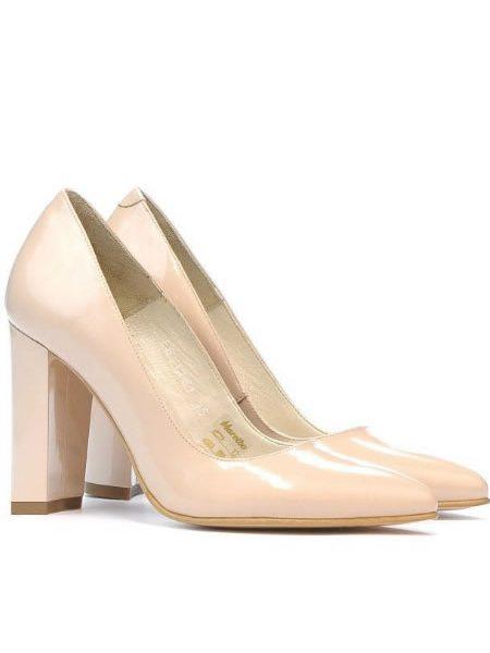Pantofi Bej Din Piele Naturala Ieftini