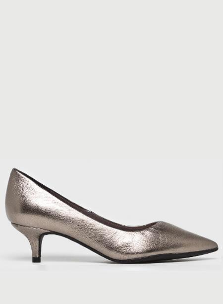 Pantofi Crom Cu Toc Mic Kitten Heel