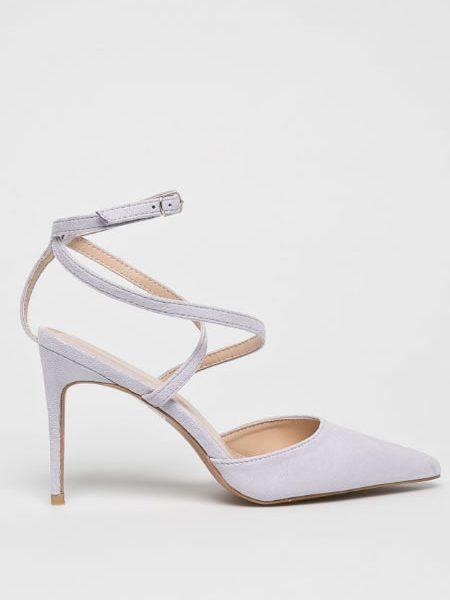 Pantofi Cu Calcaiul Decupat Mov