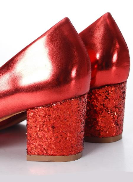 Pantofi Cu Paiete Rosii