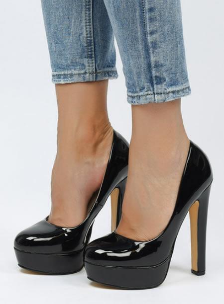 Pantofi Cu Platforma Si Toc Gros Ieftini
