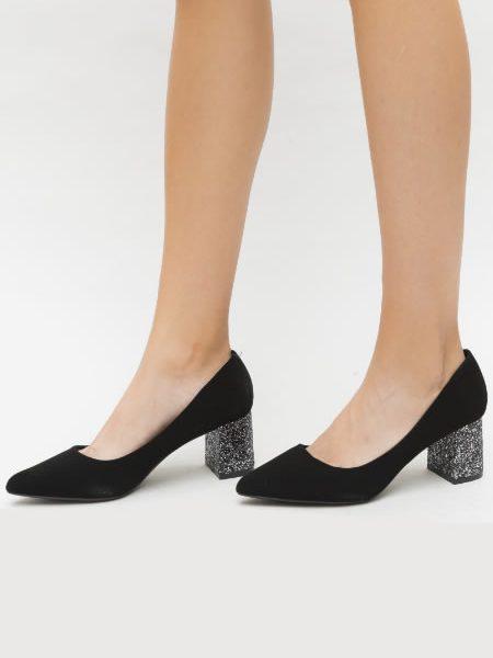 Pantofi Cu Toc Cu Sclipici