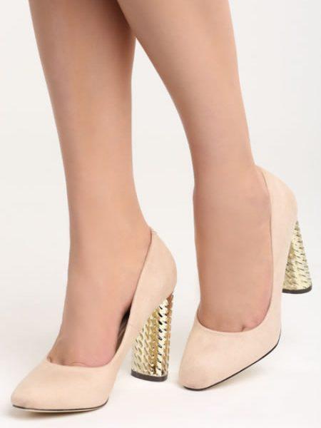 Pantofi Cu Toc Gros Accent