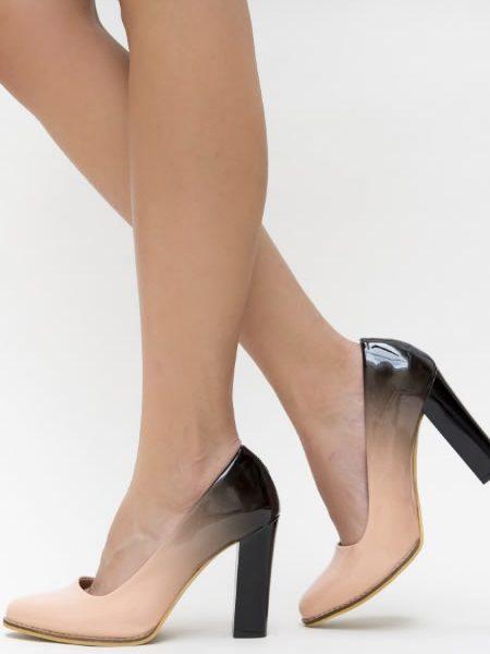 Pantofi Cu Toc Gros Ieftini Ombre