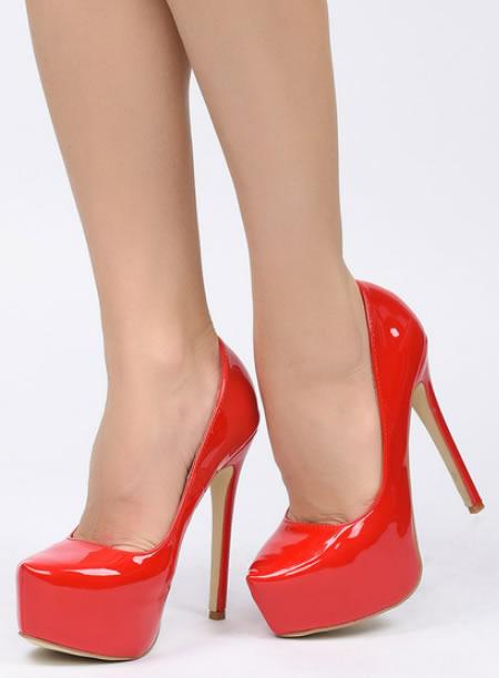 Pantofi Cu Toc Inalt Si Platforma Online Rosi