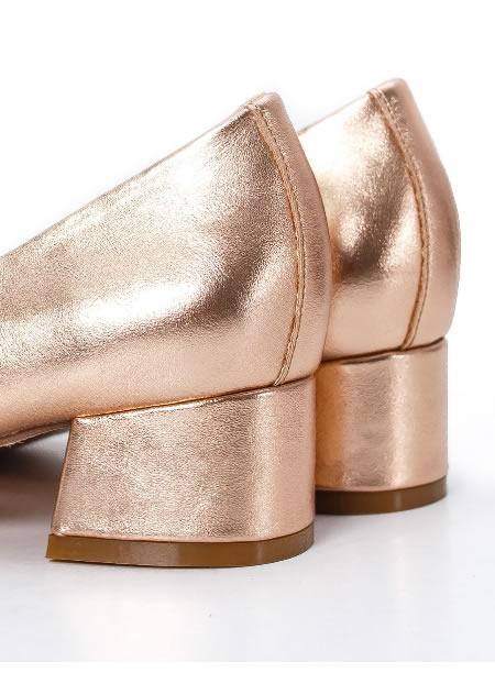 Pantofi Cu Toc Mic Aurii Ieftini