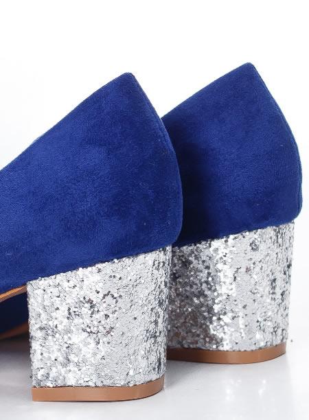 Pantofi Cu Toc Mic De Ocazie Cu Paiete