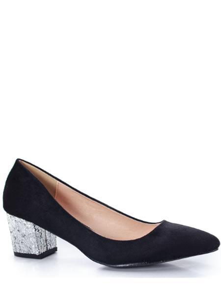 Pantofi Cu Toc Mic De Ocazie Negri