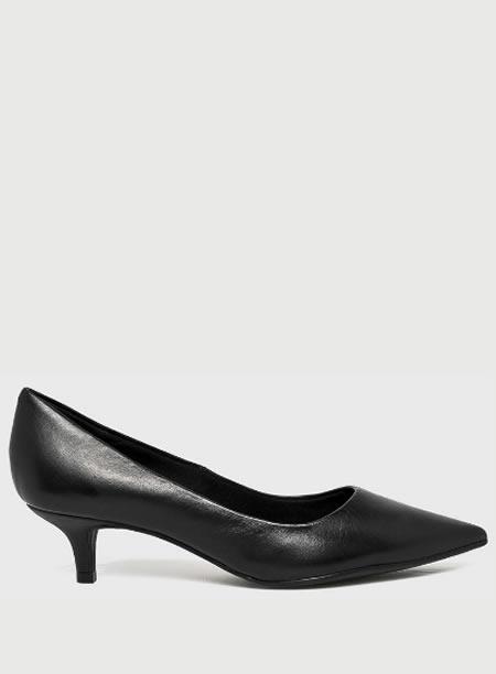 , Pantofi Cu Toc Mic Din Piele