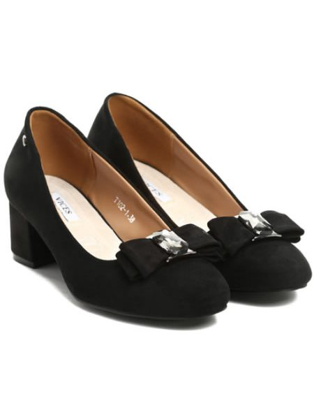 Pantofi Cu Toc Mic Eleganti Cu Fundinta Ieftini