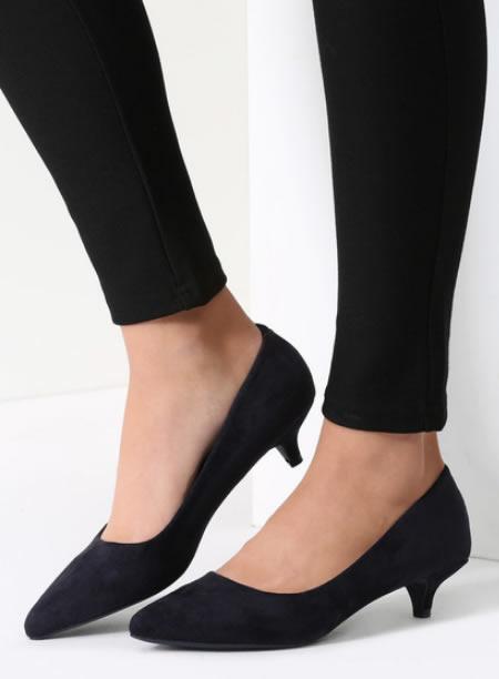 Pantofi Cu Toc Mic Negri