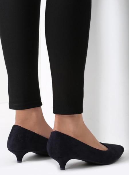 Pantofi Cu Toc Mic Negrii