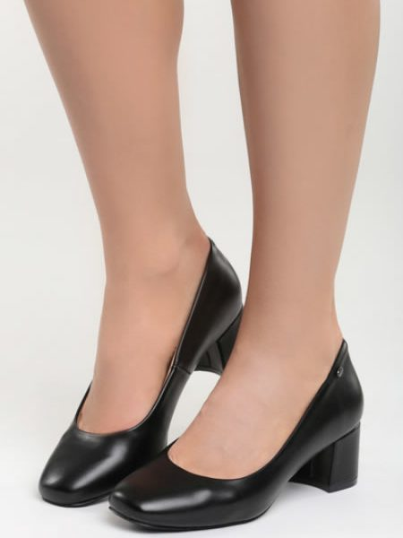 Pantofi Cu Toc Mic Patrat