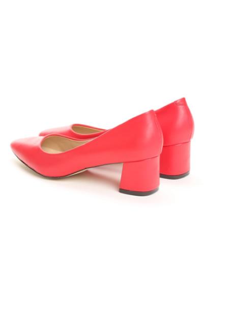 Pantofi Cu Toc Mic Patrat Rosii