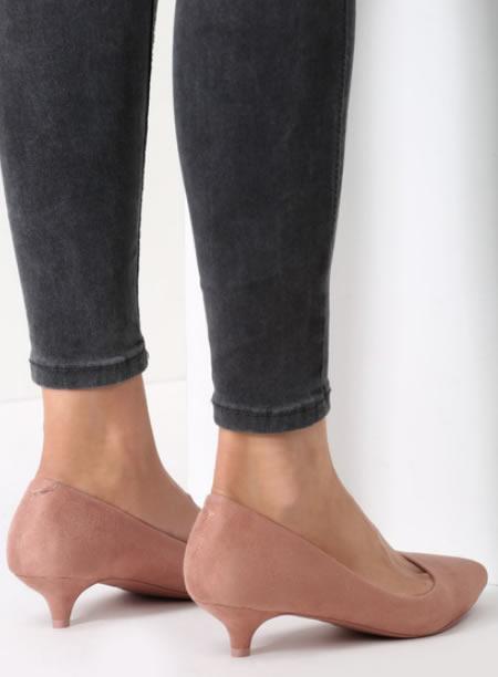 Pantofi Cu Toc Mic Roz
