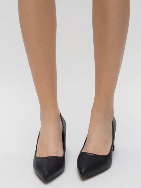 Pantofi Cu Toc Patrat Si Varf Ascutit