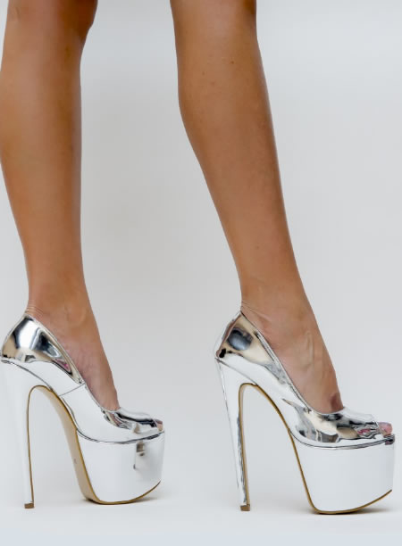 Pantofi Cu Toc Si Platforma Mare