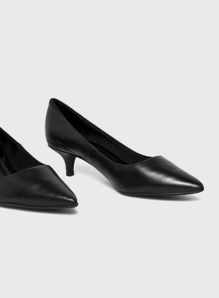 Pantofi Dama Cu Toc Mic Piele
