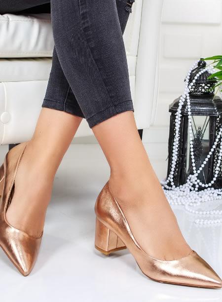 Pantofi Dama Cu Varf Ascutit Si Toc Mic