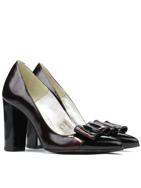 Pantofi Dama De Piele Cu Toc Gros Eleganti