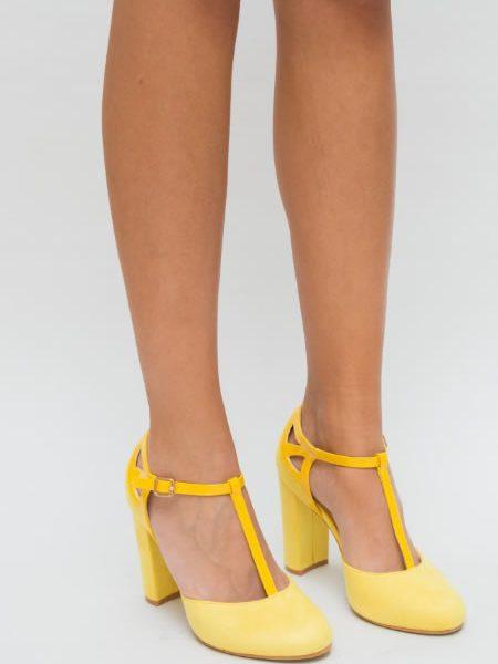 Pantofi Dama Galbeni Cu Bareta T