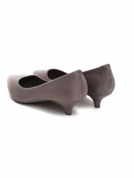 Pantofi Dama Gri Cu Toc Mic Si Subtire