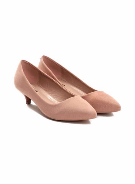 Pantofi Dama Roz Ascutiti Cu Toc Mic