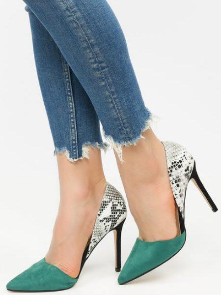 Pantofi Dama Stiletto Piele De Sarpe