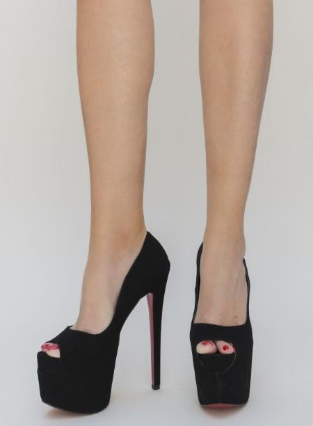 Pantofi De Club Foarte Inalti Negri