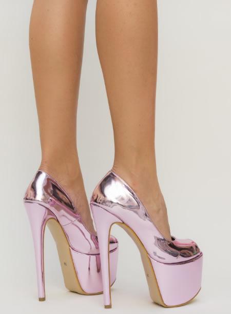 Pantofi De Club Foarte Inalti Roz