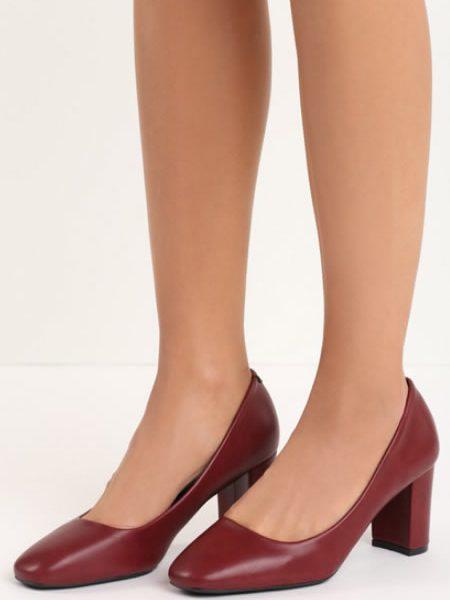 Pantofi De Dama Cu Toc Mediu Casual Grena