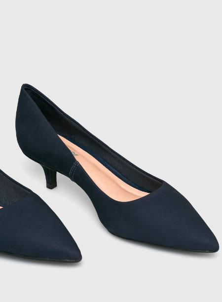 Pantofi De Dama Cu Toc Mic Din Piele Intoarsa