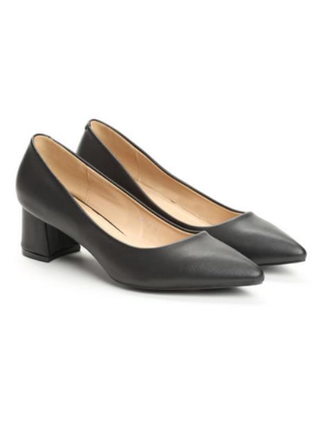 Pantofi De Dama Cu Toc Mic Patrat