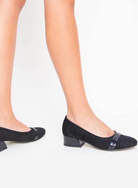 Pantofi De Dama Negri Toc Jos
