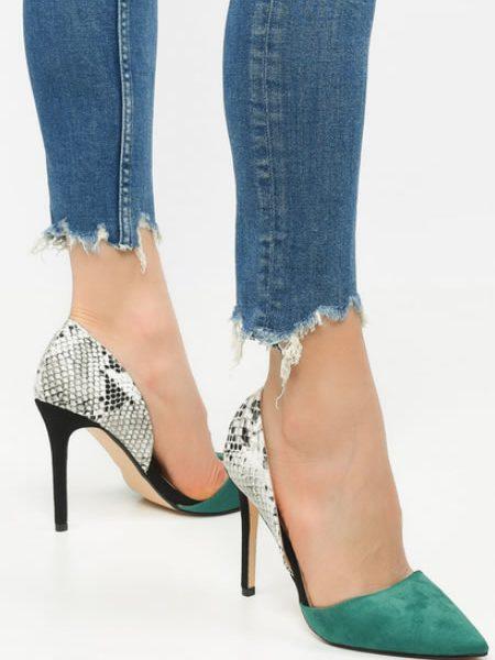 Pantofi De Dama Stiletto Piele De Sarpe