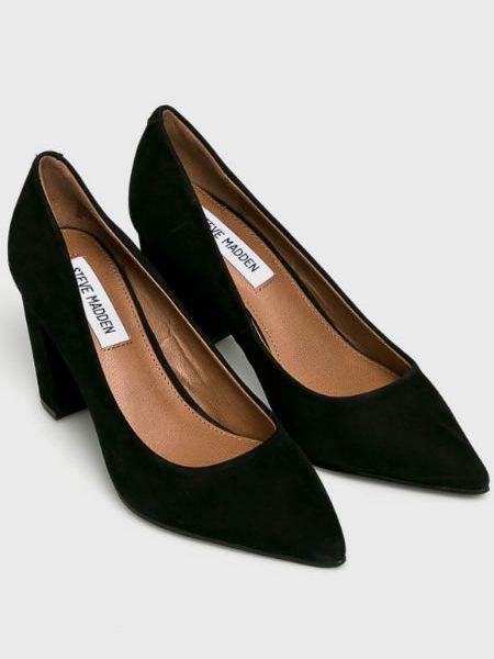Pantofi De Piele Cu Toc Gros Steve Madden