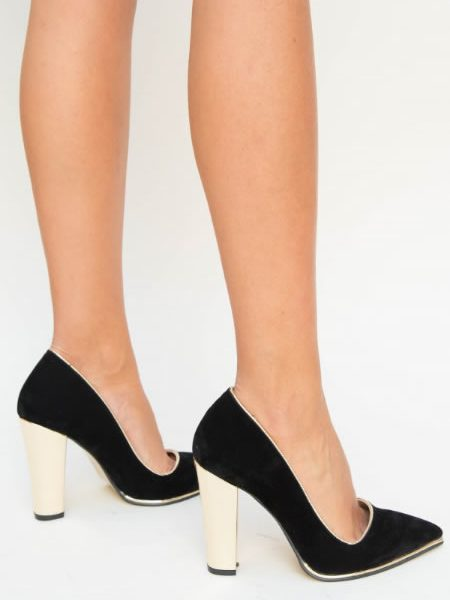 Pantofi De Seara Cu Toc Inalt Gros