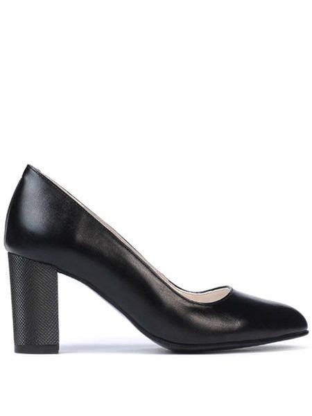Pantofi Din Piele Cu Toc Mediu